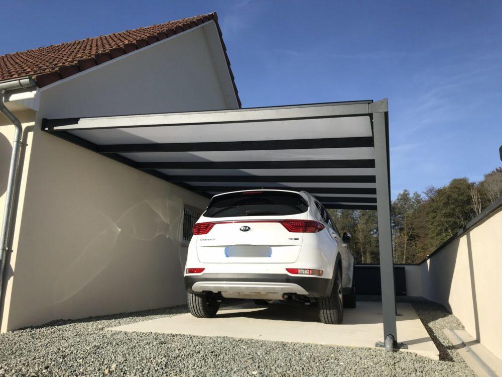 Carport alu abri voiture alu ou abri camping car sur for Garage belfort auto mantes la jolie