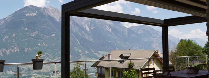 Pergola retractable en Suisse