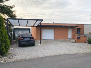 Installation d'un carport et d'un auvent aluminium sur mesure à Besançon