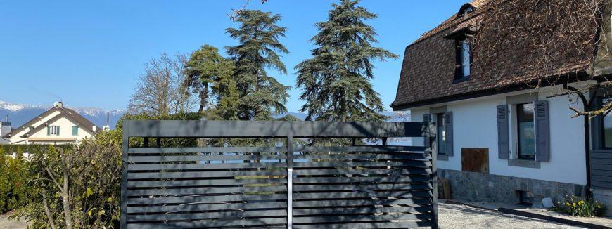 Carport alu double sur mesure près de Genève.