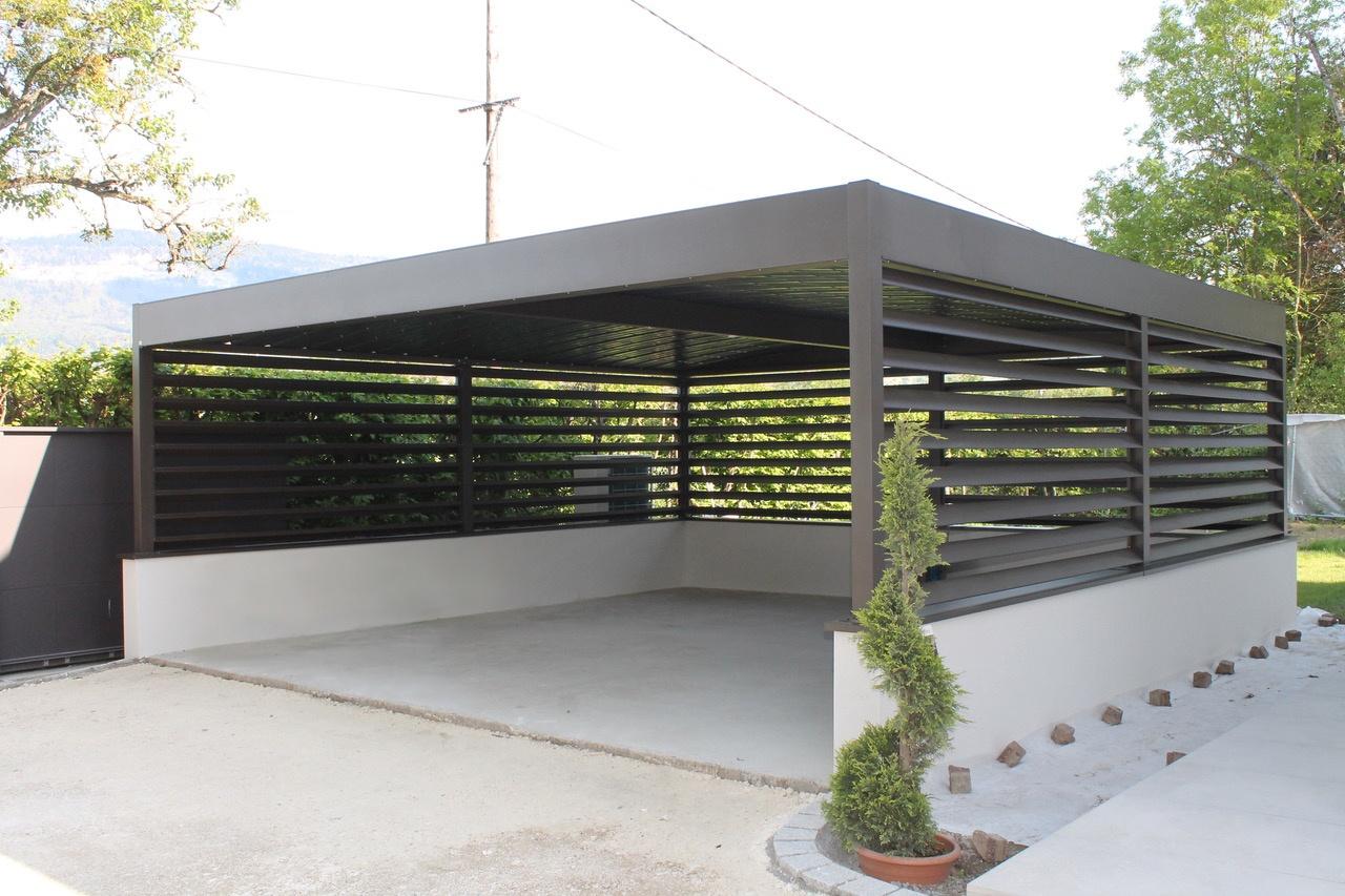carport alu 2 voitures carport double alu sur mesure anavi. Black Bedroom Furniture Sets. Home Design Ideas