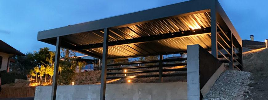 Carport en aluminium sur mesure à Aix-les-Bains