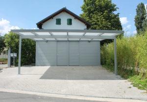 Carport en aluminium sur mesure monopan à Genève