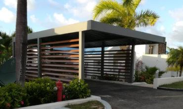 Carport en aluminium sur mesure à Saint Martin