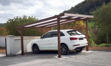 Carport autoporté en aluminium à Lyon
