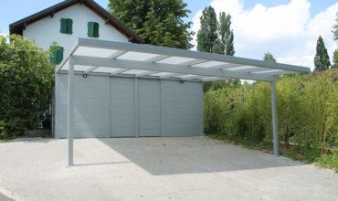 Carport sur mesure en alu monopan à Genève
