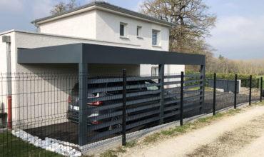 Carport végétalisé en aluminium