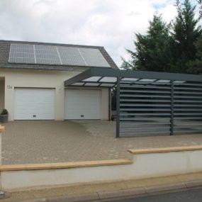 Superbe Carport double en aluminium à Metz