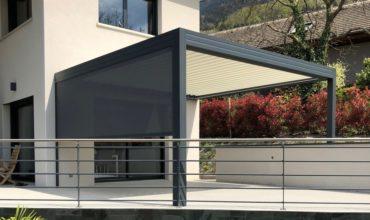 Pergola bioclimatique aluminium à Grenoble