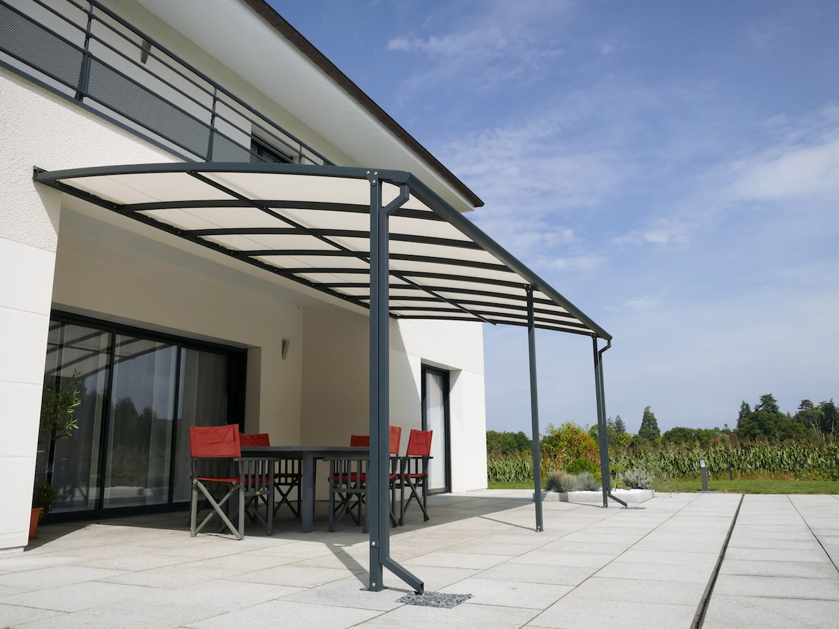 pergola en alu pergolas alu pergola aluminium gris anthracite carport alu almicar direct abris. Black Bedroom Furniture Sets. Home Design Ideas